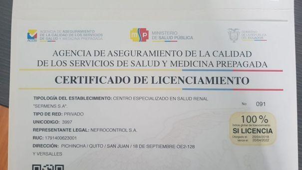 SERMENS recibe certificación del 100% de Licenciamiento